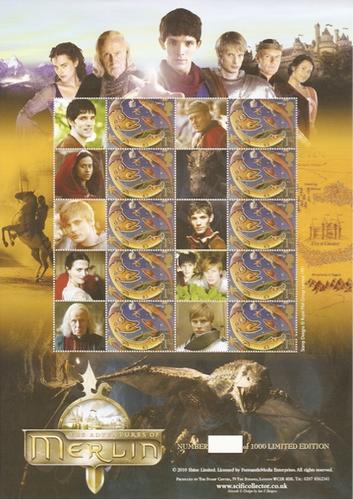 1,000シート限定、『Merlin/魔術師マーリン』切手シート